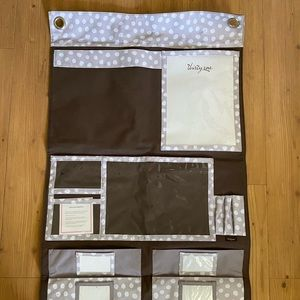 Thirty-One Brown, grey and white wall organizer